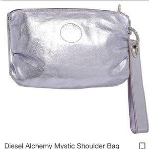 Diesel mystic shoulder clutch back shiny purple